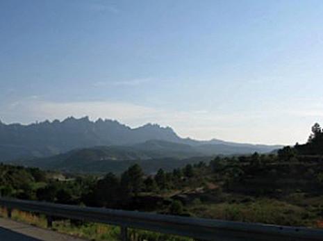 8h04 Igualada Andorra Montserrat carretera039 Monserrat desde la autopista variante Uti 465