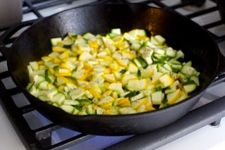 don't skimp on browning the zucchini