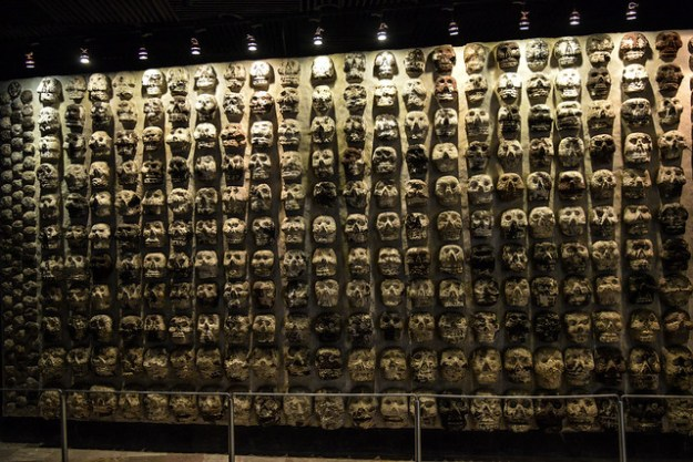 Stone Carved Skulls at Templo Mayor Museum