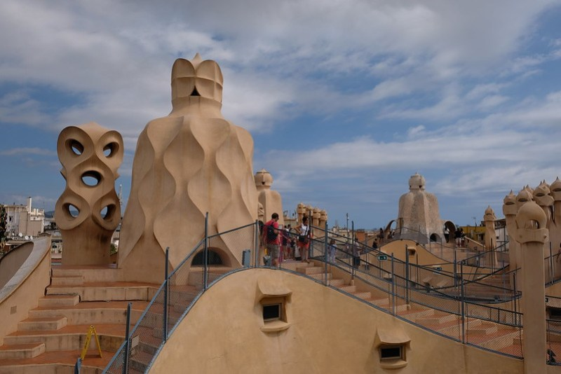 On top of Casa Mila | 3 Day Itinerary Barcelona