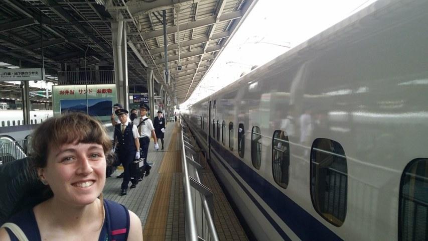 Our first Shinkansen