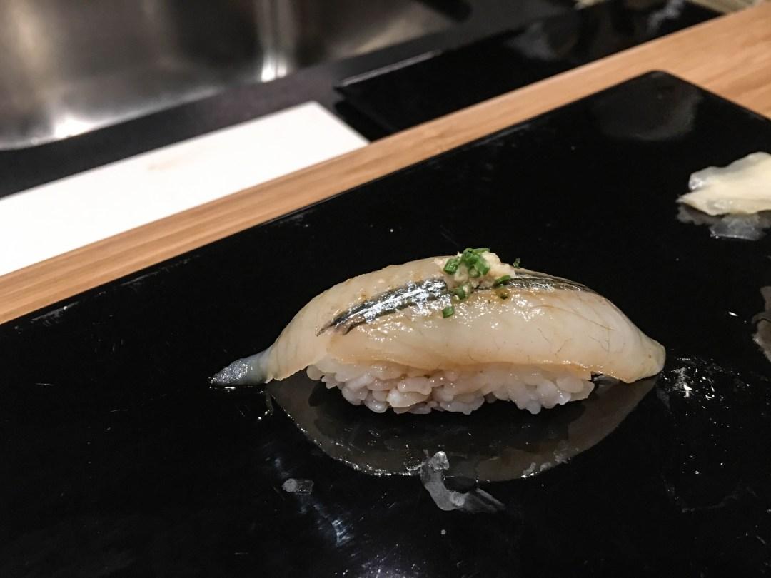 Garfish sushi