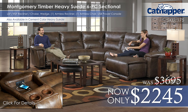 Montgomery Timber 6PC Sectional 175_Chaise