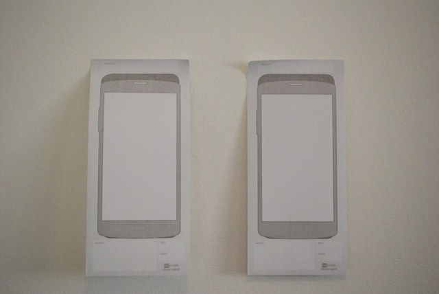 How the UX Store's sketch pads stick up on the wall