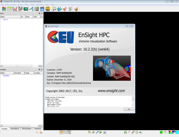 Working with EnSight 10.2.2 full license