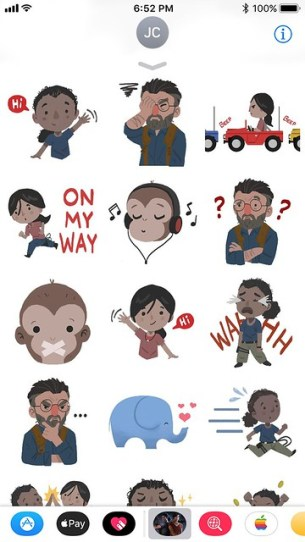 Uncharted: The Lost Legacy iMessage Stickers