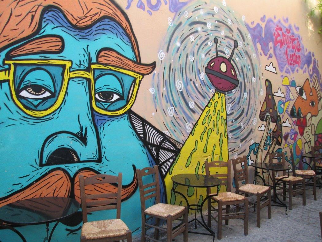 cool cafe in Mytilene