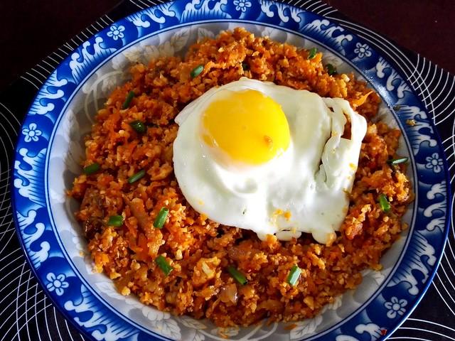 Kimchi Cauliflower rice