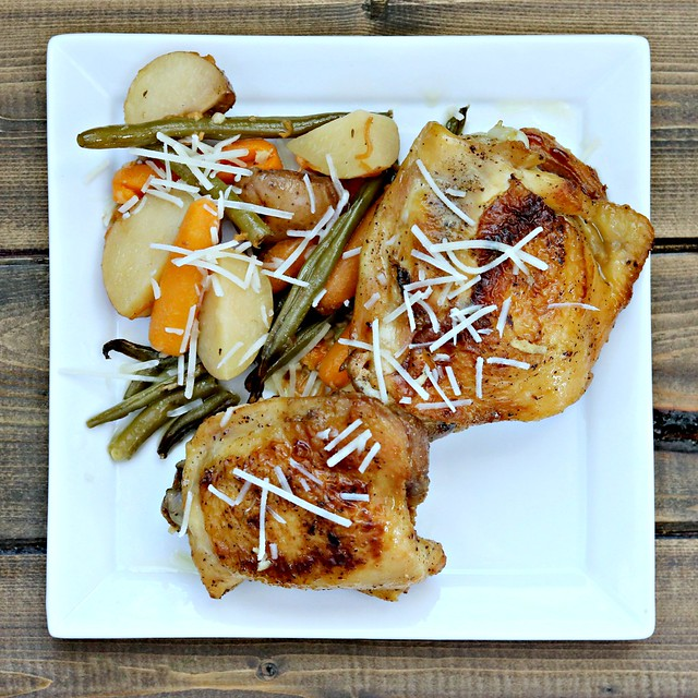 Garlic Parm Chicken & Veggies Sq