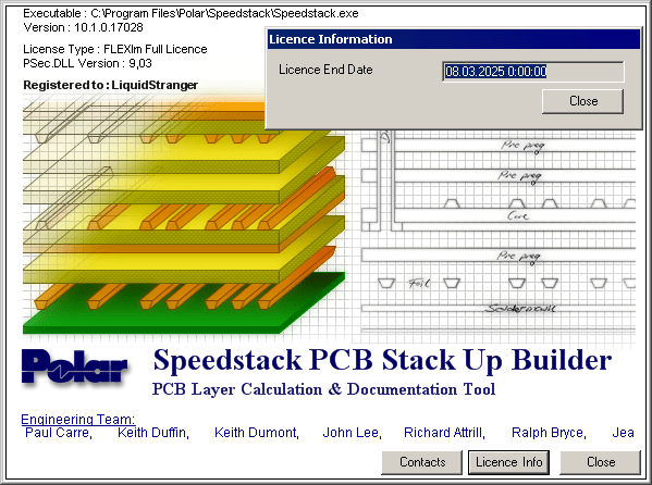 Speedstack PCB stack Up builder full license