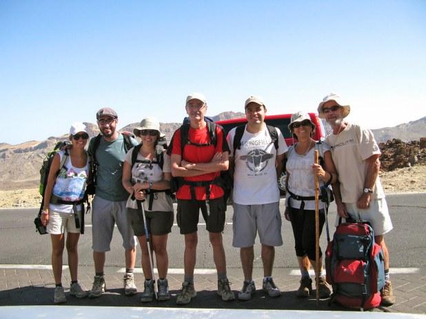 Comienzo de la subida al Teide