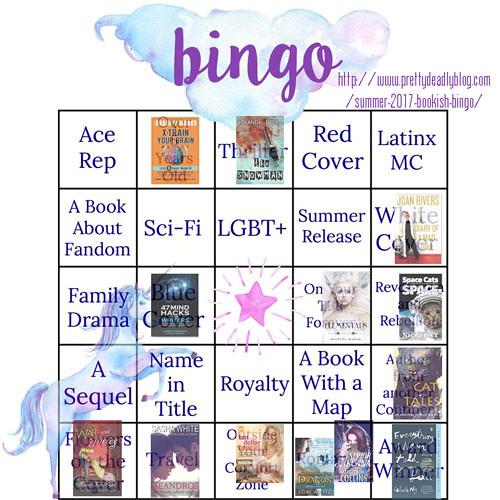 Bookish bingo August 2017 @JLenniDorner