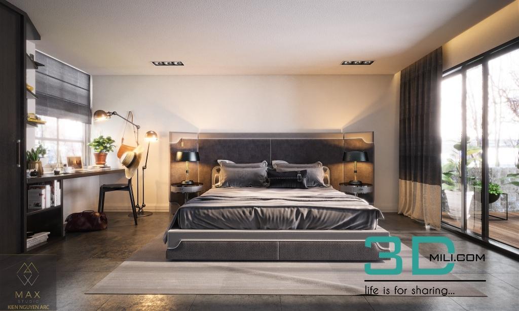 BED ROOM BEAUTYFUL BY Kien Nguyen 3D Mili Download 3D