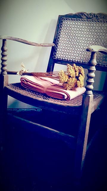 Antieke stoel slaapkamer