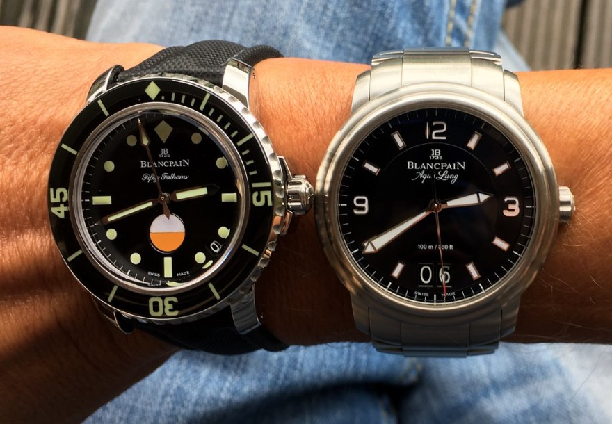 Blancpain Fifty Fathoms Tribute to MilSpec and Leman Aqua Lung Grande Date