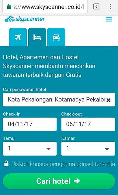 Skyscanner hotel