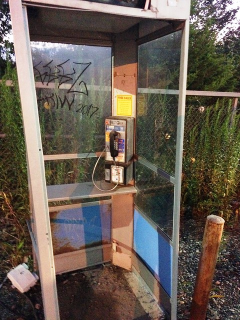 Working Pay Phone at Our Exit on Pennsylvania Turnpike