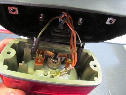 Brake Light Housing Wiring Installed