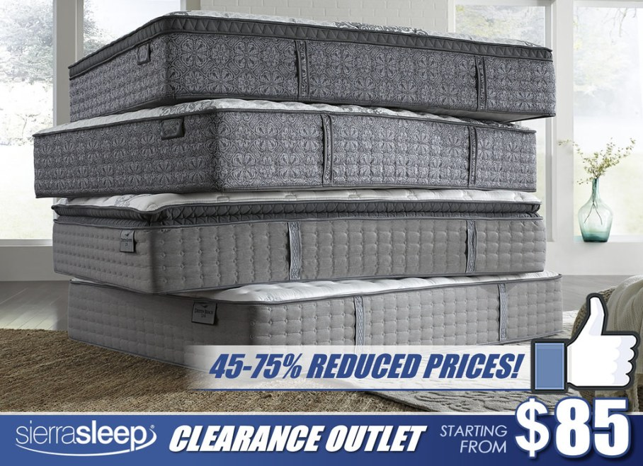 Sierra Sleep Clearance Outlet Mattress Stack_Simplified