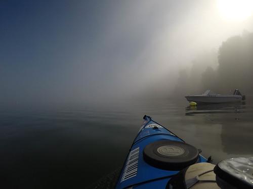 Samish Island Paddling in Fog-22