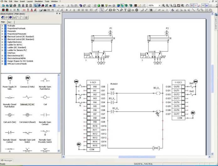 hướng dẫn thiết kế mạch PLC trong automation studio