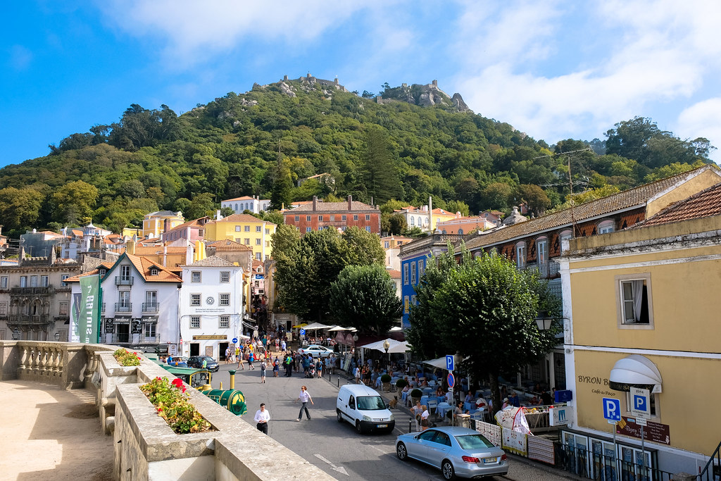 National Palace of Sintra Courtyard City View