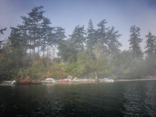 Samish Island Paddling in Fog-28