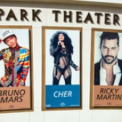 Concerts sign at the Park Theater at the Monte Carlo in Las Vegas.