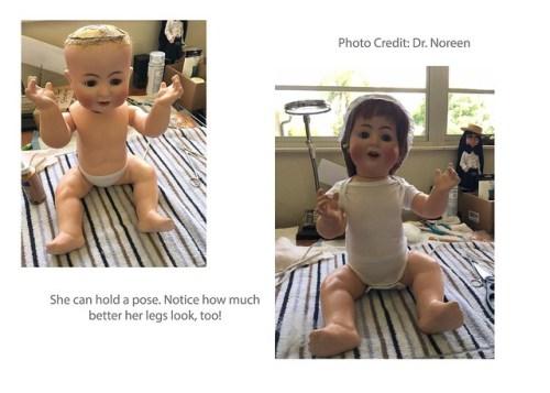 After- Doll Restoration