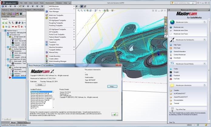 Lập trình với phần mềm mastercam X7 MU2 for solidworks