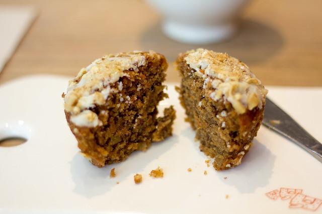 Muffin de zanahoria en Le Pain Quotidien