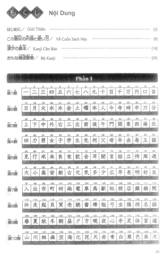 Nội dung sách Kanji Look and Learnbản scan tiếng việt 1