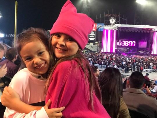 at the Gaga concert