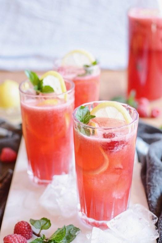raspberry mint gin lemonade