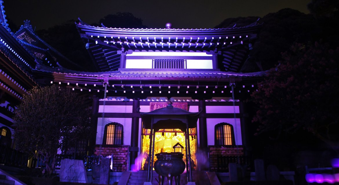 Hasedera Kmaakura Summer Night Illuminations 2017
