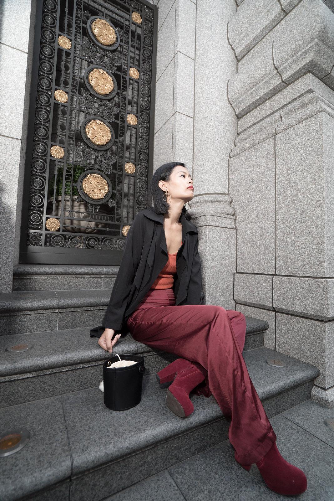 Wearing silk pants in fall