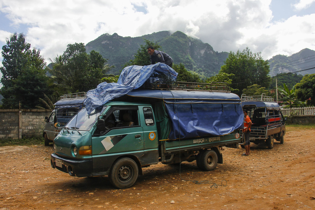 lokalt transport i Laos