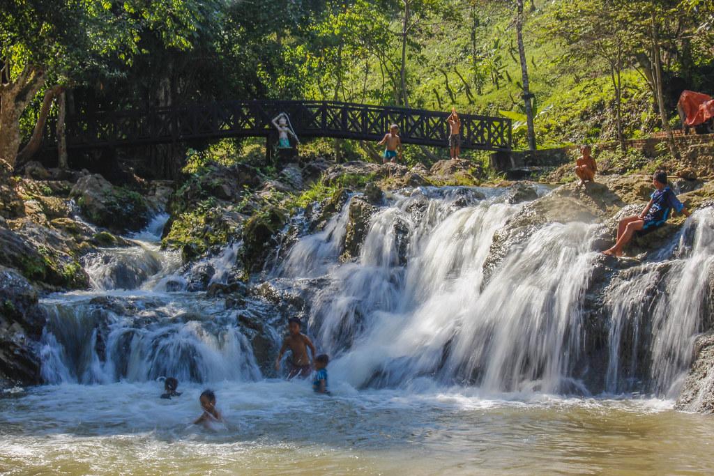 vandfald i Luang Prabang, Laos