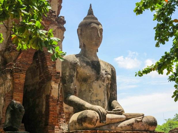 Buda en Ayutthaya