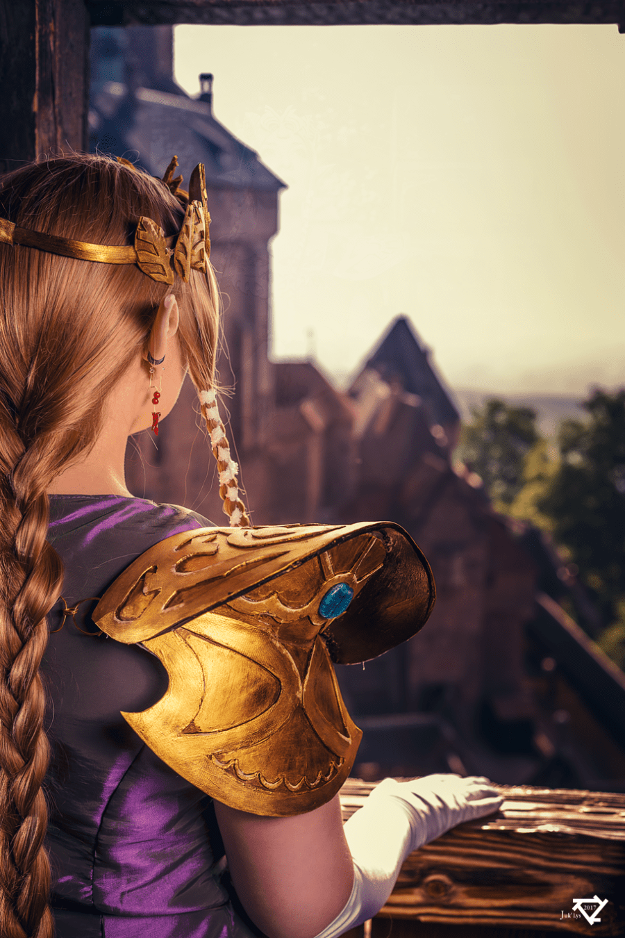 Zelda at Haut Koenigsbourg castle - France