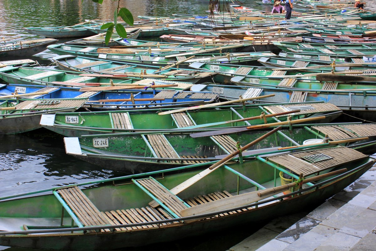 Tam Coc boat pier