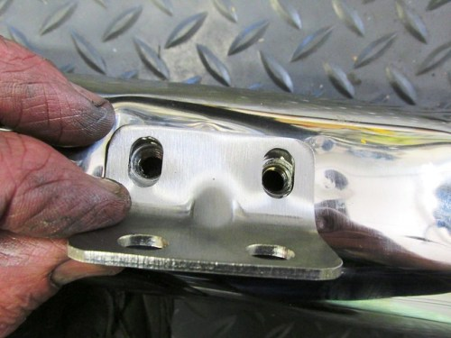 Orientation of Muffler Angle Bracket on Muffler