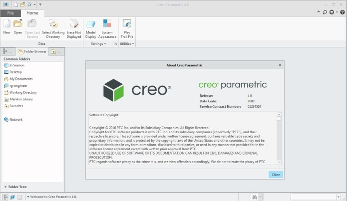 Thiết kế với PTC Creo 4.0 parametric F000