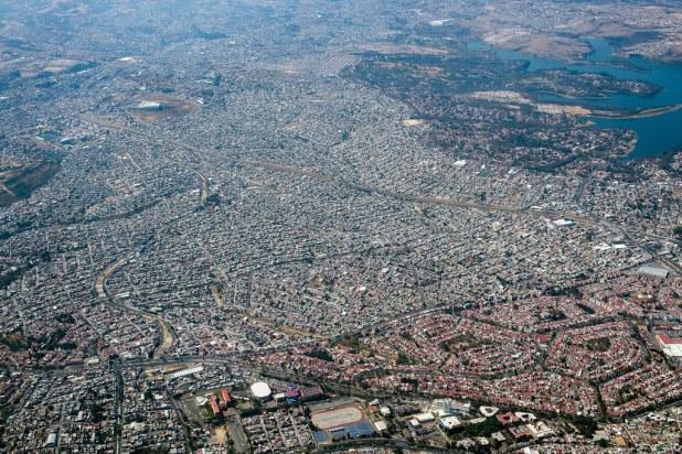 Capital de Mexico desde el aire