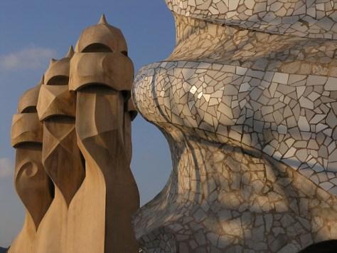 Barcelona Casa Milà roof sculpture3