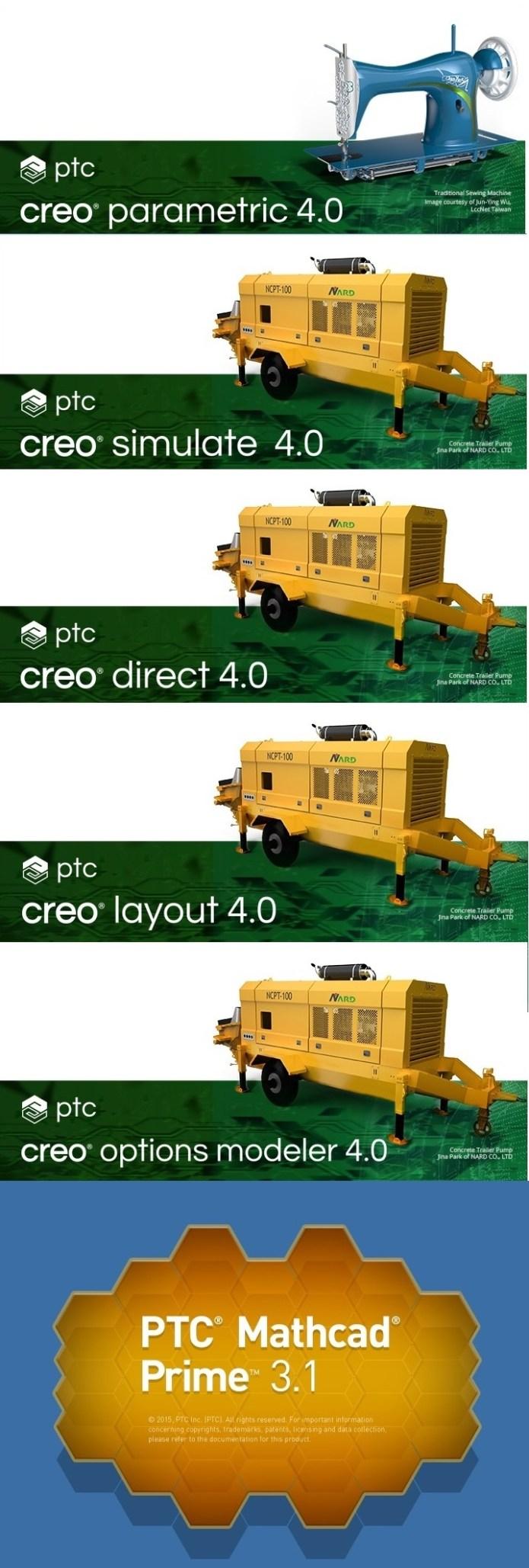 Bộ phần mềm PTC Creo 4.0 F000