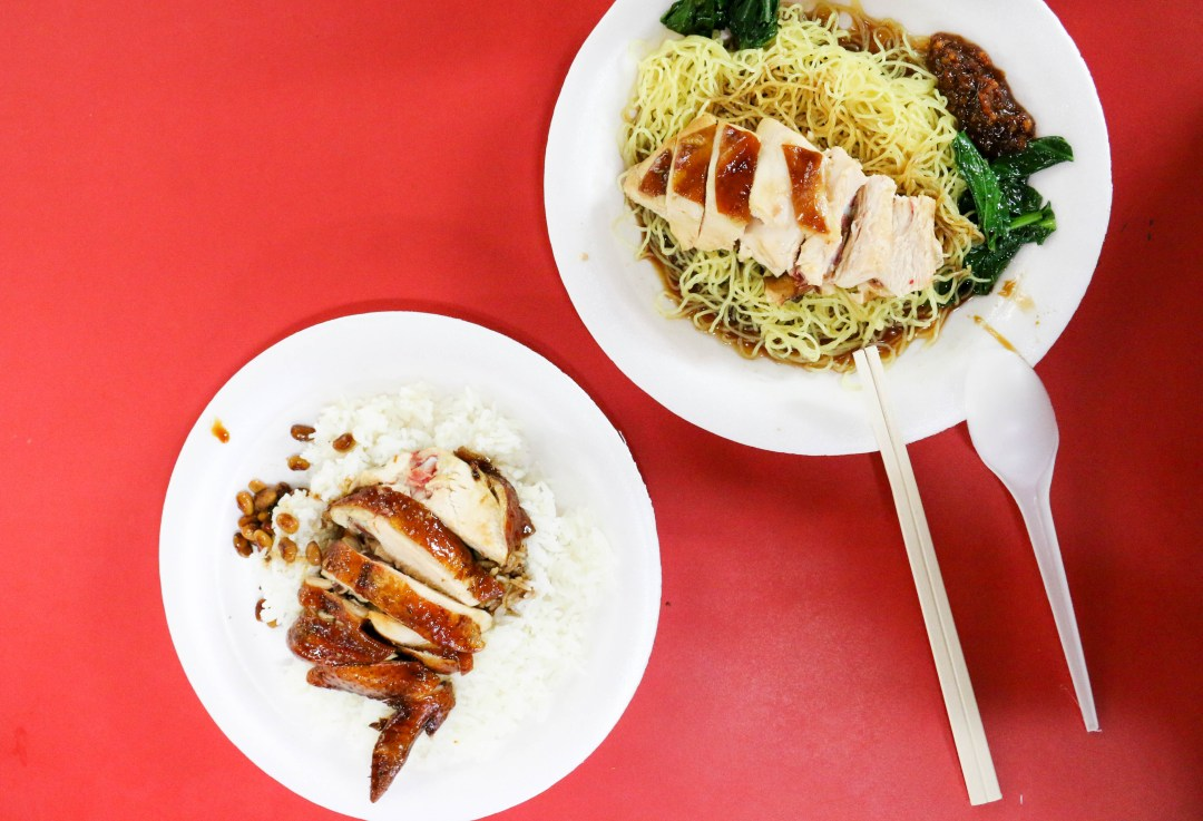 Hong Kong Soya Sauce Chicken rice and noodles