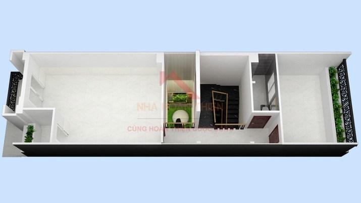 Tầng 2 L3.9 nhà được thiết kế và xây dựng theo mô hình cho thuê của Công Ty Cổ Phần Nhà Hoàn Thiện