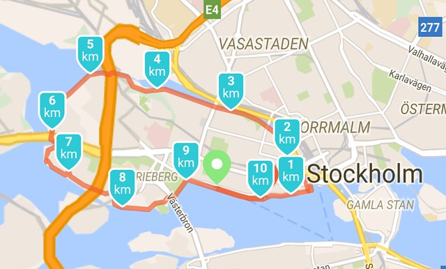 Rond Kungsholmen lopen in Stockholm - city jogging rond Kungsholmen