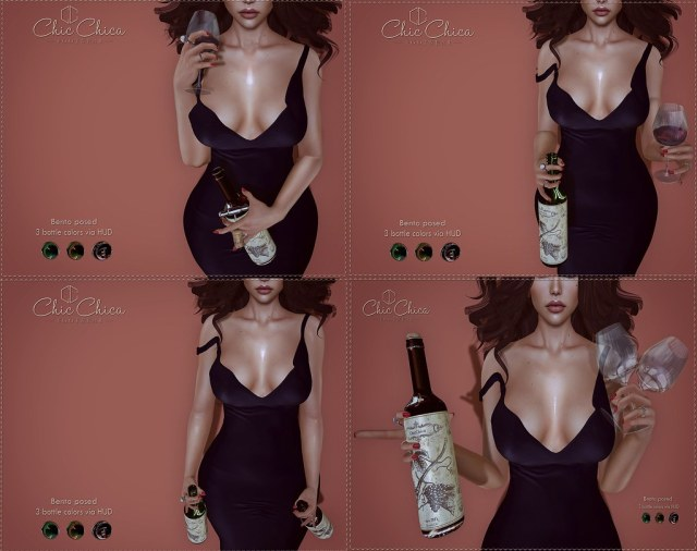 Wine with poses by ChicChica OUT @ Shiny Shabby